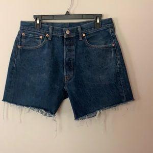 Levi's 501 Button Fly Cutoff Jean Shorts